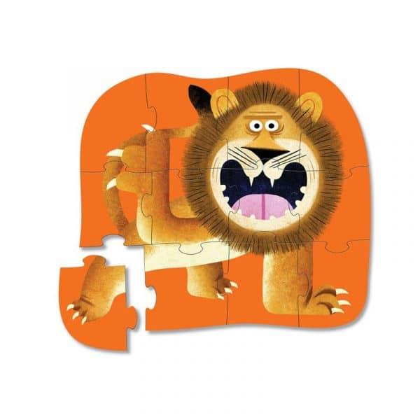 12-pcs-mini puzzel brullende leeuw