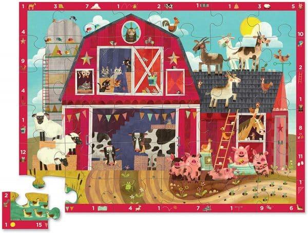 36 stukken puzzel boerderij
