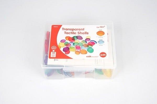 Gekleurde transparante schelpen 3