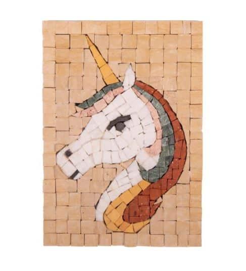 Mosaikit Unicorn Face 12 x 17