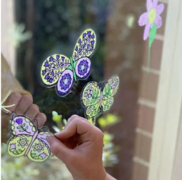 Movable window art vlinders