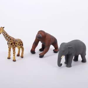 Set Jungledieren van zachte rubber 2
