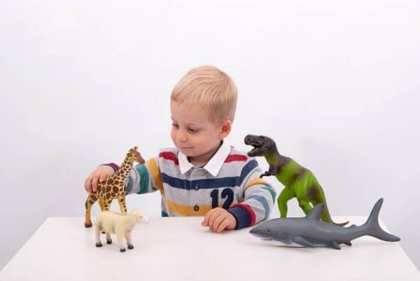 Set Jungledieren van zachte rubber 3