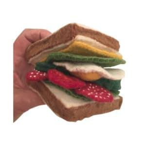 Vilten sandwich met beleg