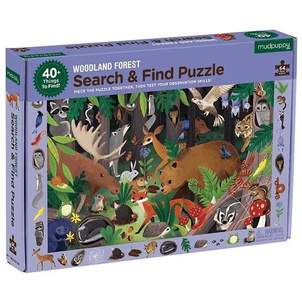 Zoek en vind puzzel beestenbos