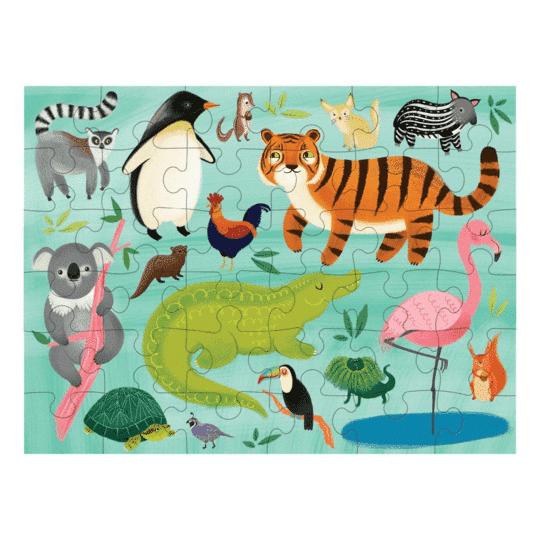 Dieren van de wereld reispuzzel