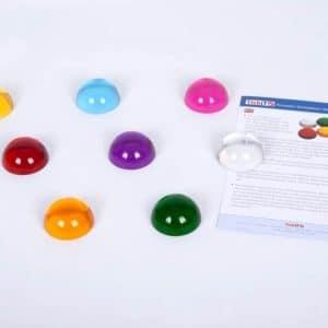 gekleurde halve bollen