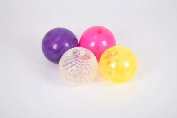 set grote botsballen met LED