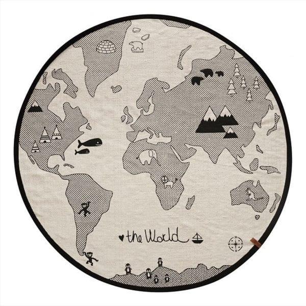 vloerkleed - mat - wereld zwbeige