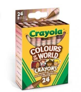 24 waskrijtjes- huidskleur
