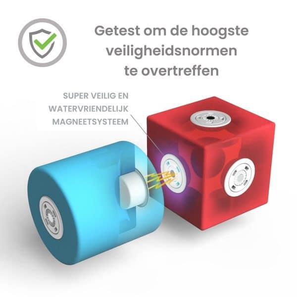 Blockaroo Builders box-50 stuks-magnetisch speelgoed