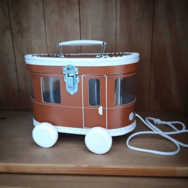 Koffer Tram cognac
