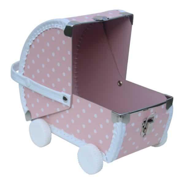 Speelkoffertje Poppenwagen