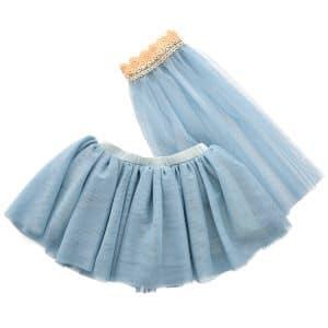 Tulle rok met sluier Astrup blauw