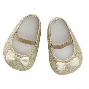 poppen schoenen glitter goud