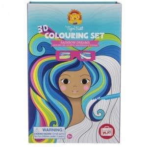 3d colouring set regenboog