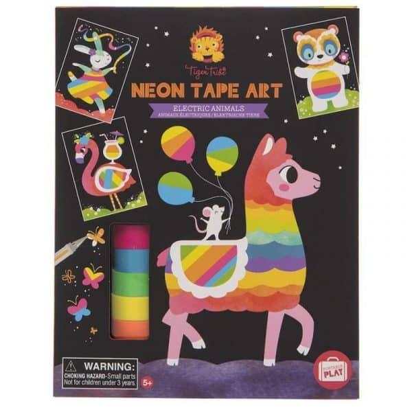 creatieve-knutselset-neon-tape-art-electric-animals