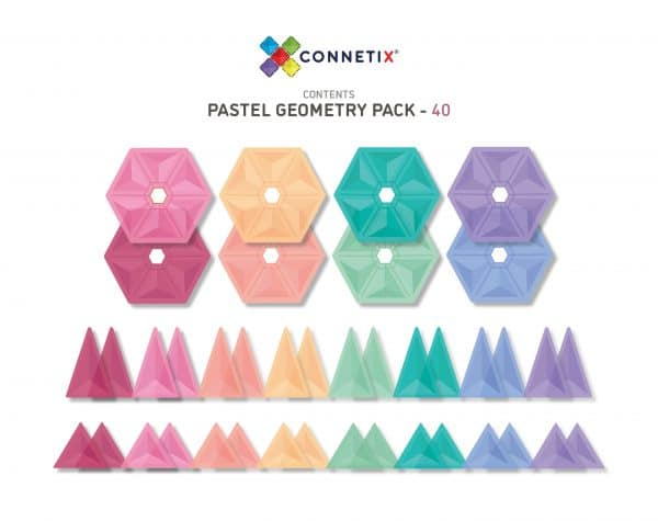 40 Pastel Geometry Pack Contents